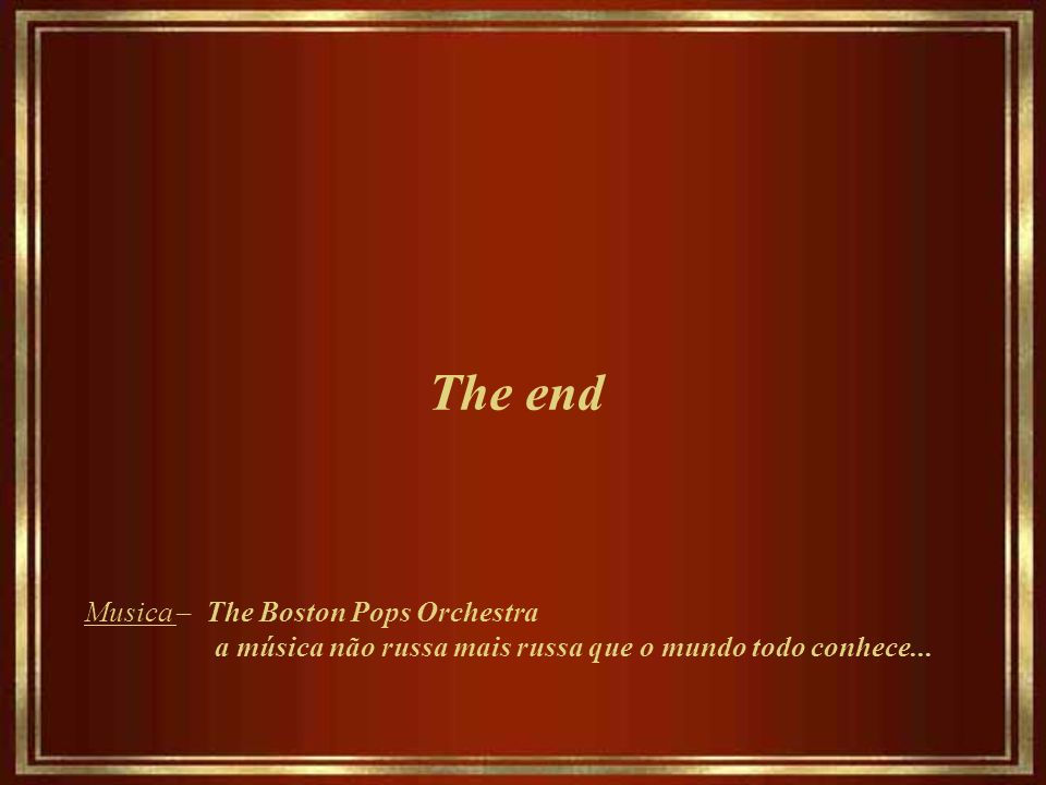The end Musica – The Boston Pops Orchestra