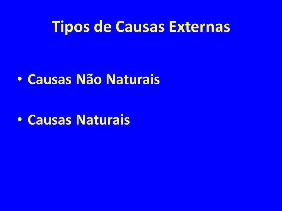 Tipos de Causas Externas
