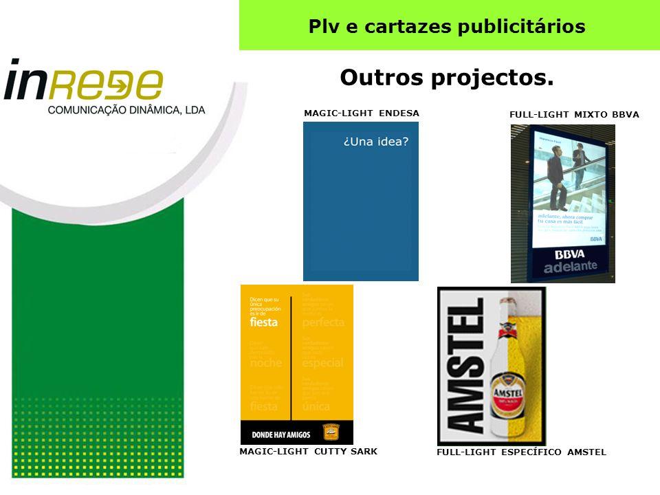 Plv e cartazes publicitários