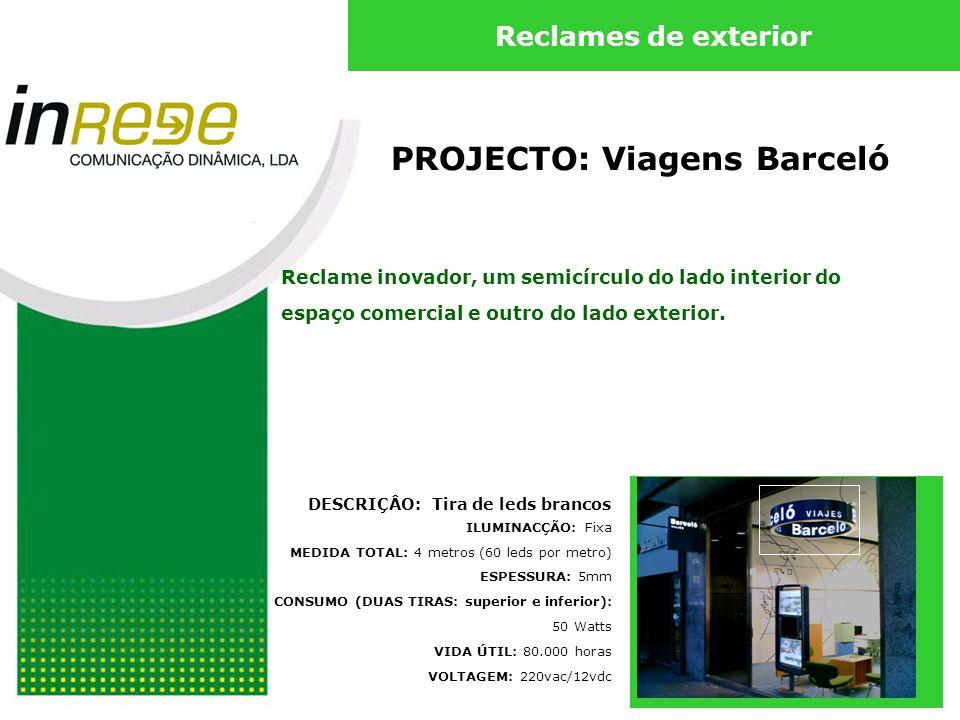 PROJECTO: Viagens Barceló