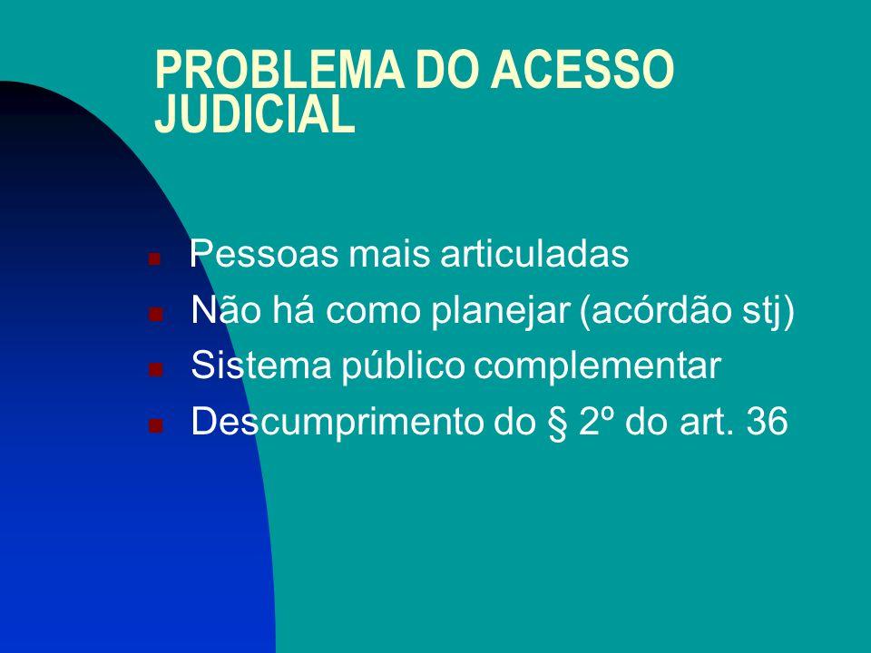 PROBLEMA DO ACESSO JUDICIAL