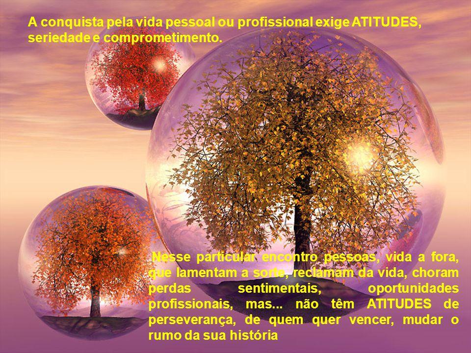 A conquista pela vida pessoal ou profissional exige ATITUDES,
