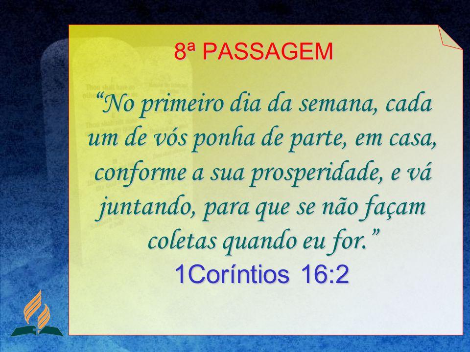 8ª PASSAGEM