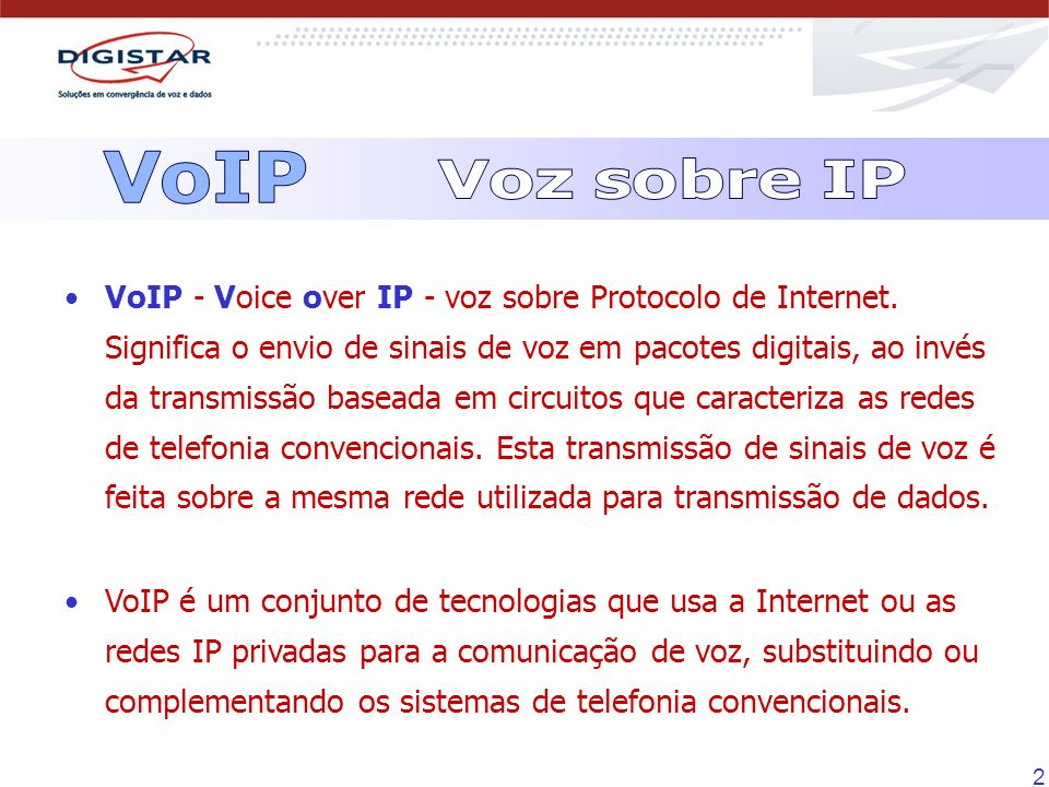 VoIPVoz sobre IP.