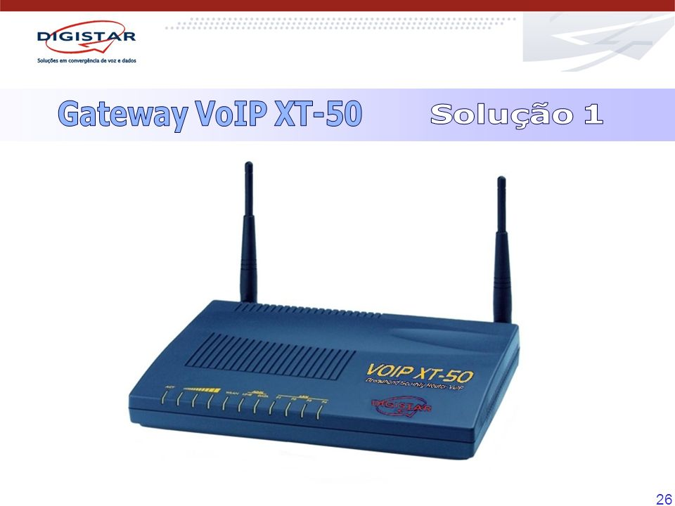 Gateway VoIP XT-50 Solução 1