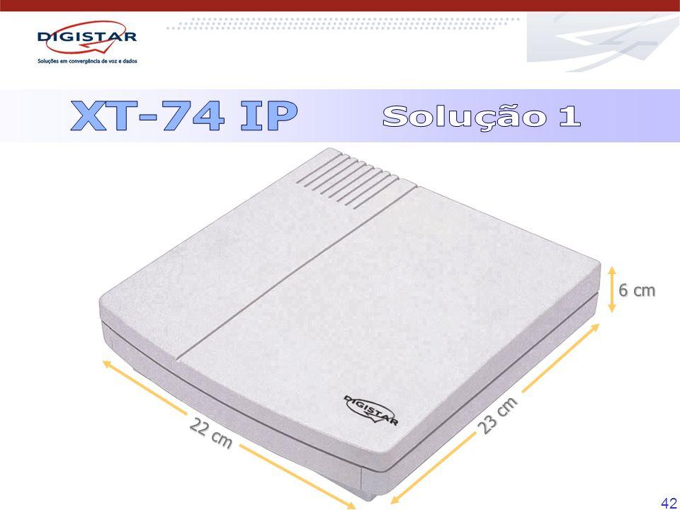 XT-74 IP Solução 1 6 cm 23 cm 22 cm