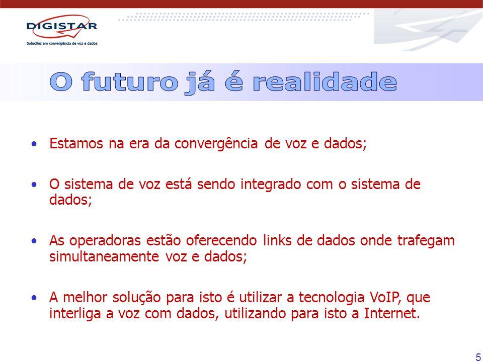 O futuro já é realidade Estamos na era da convergência de voz e dados;