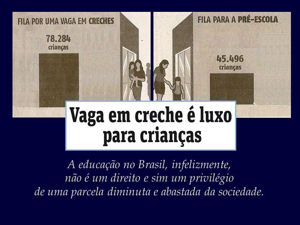 A educação no Brasil, infelizmente,