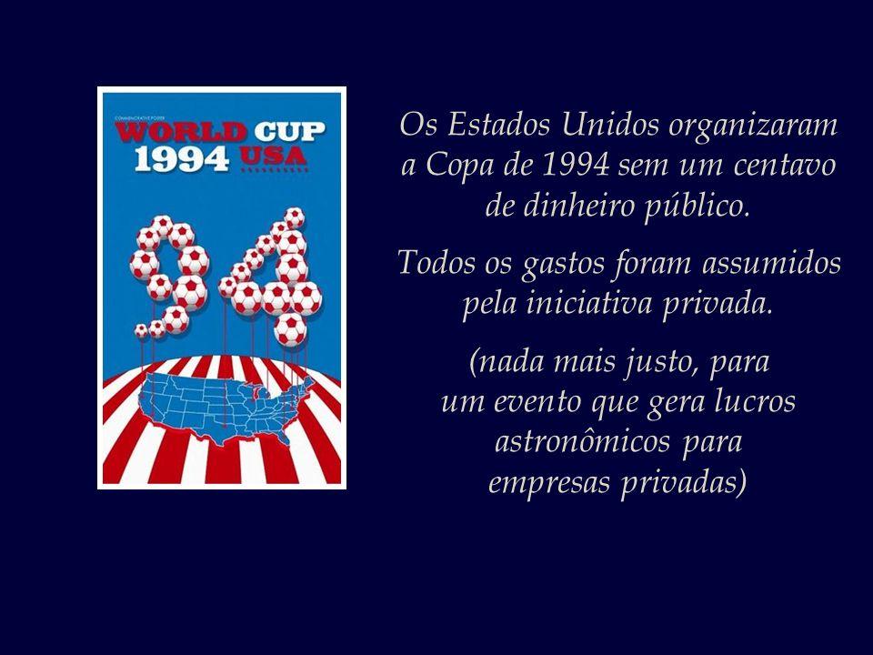 Os Estados Unidos organizaram a Copa de 1994 sem um centavo