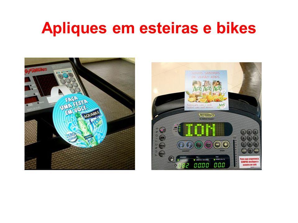 Apliques em esteiras e bikes