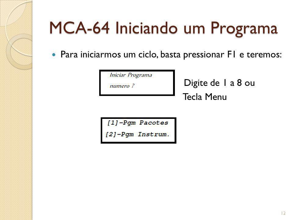 MCA-64 Iniciando um Programa