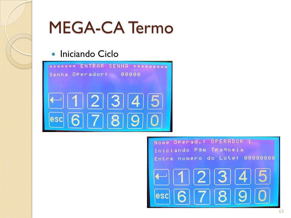 MEGA-CA Termo Iniciando Ciclo
