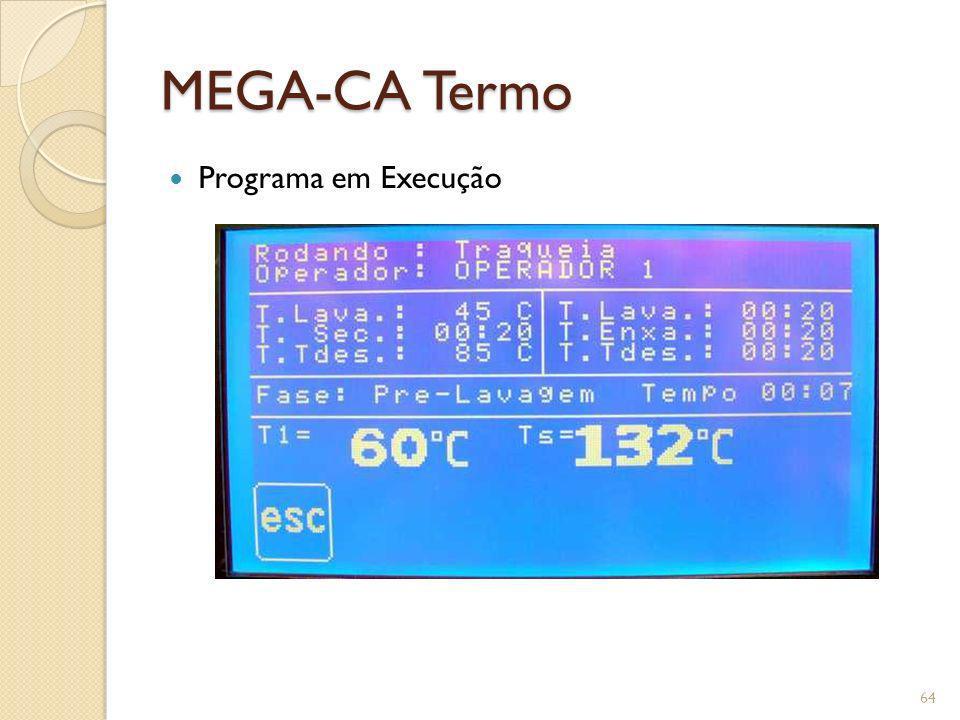 MEGA-CA Termo Programa em Execução