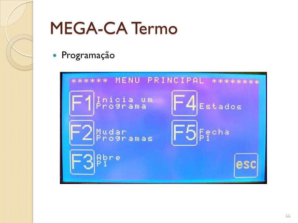 MEGA-CA Termo Programação