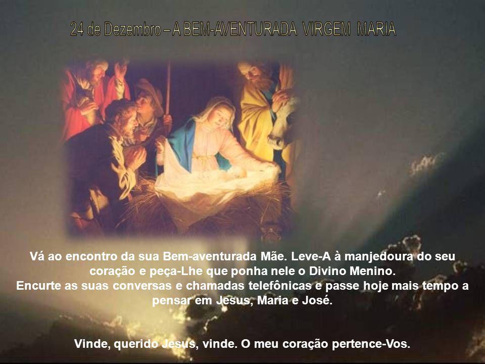 Vinde, querido Jesus, vinde. O meu coração pertence-Vos.
