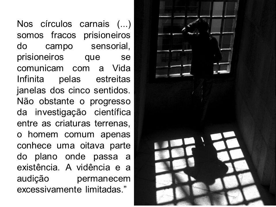 Nos círculos carnais (...) somos fracos prisioneiros do campo sensorial, prisioneiros que se comunicam com a Vida Infinita pelas estreitas janelas dos cinco sentidos.