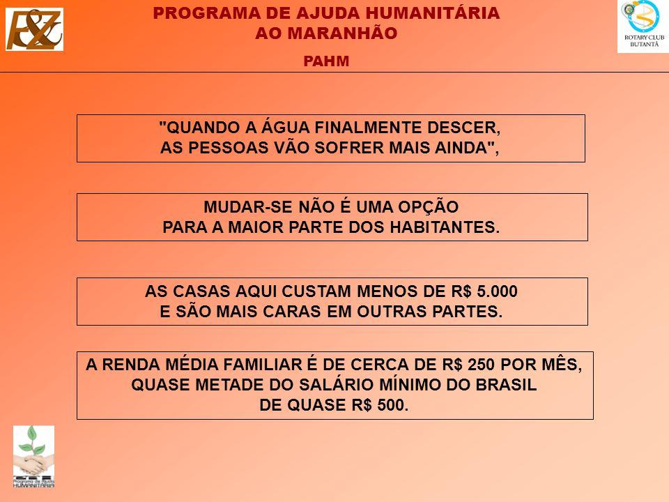 QUANDO A ÁGUA FINALMENTE DESCER, AS PESSOAS VÃO SOFRER MAIS AINDA ,