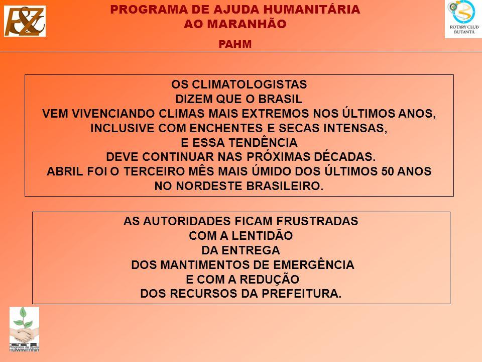 OS CLIMATOLOGISTAS DIZEM QUE O BRASIL VEM VIVENCIANDO CLIMAS MAIS EXTREMOS NOS ÚLTIMOS ANOS, INCLUSIVE COM ENCHENTES E SECAS INTENSAS, E ESSA TENDÊNCIA DEVE CONTINUAR NAS PRÓXIMAS DÉCADAS. ABRIL FOI O TERCEIRO MÊS MAIS ÚMIDO DOS ÚLTIMOS 50 ANOS NO NORDESTE BRASILEIRO.