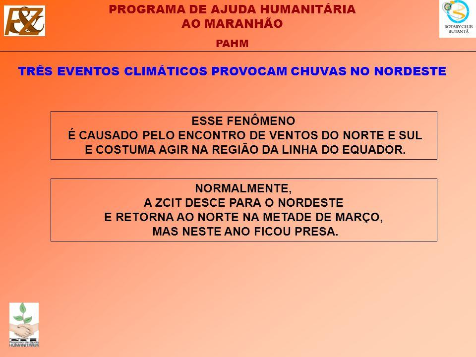 TRÊS EVENTOS CLIMÁTICOS PROVOCAM CHUVAS NO NORDESTE