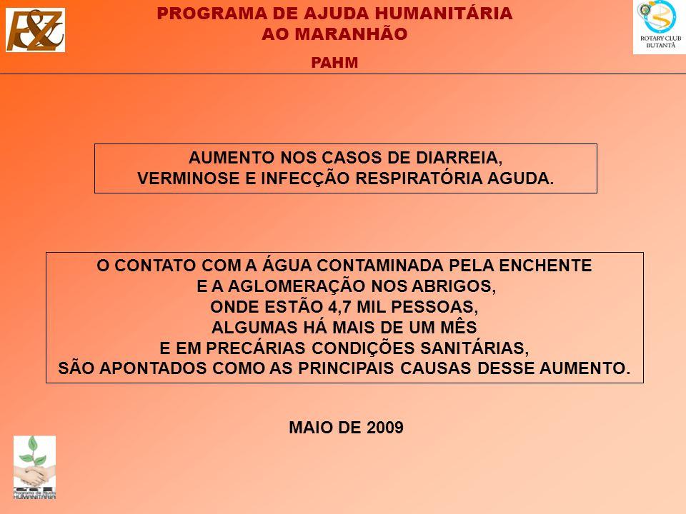 AUMENTO NOS CASOS DE DIARREIA, VERMINOSE E INFECÇÃO RESPIRATÓRIA AGUDA.
