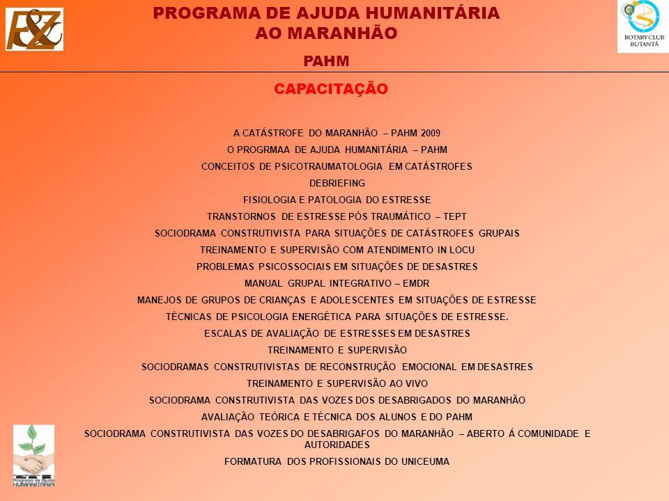 CAPACITAÇÃO A CATÁSTROFE DO MARANHÃO – PAHM 2009