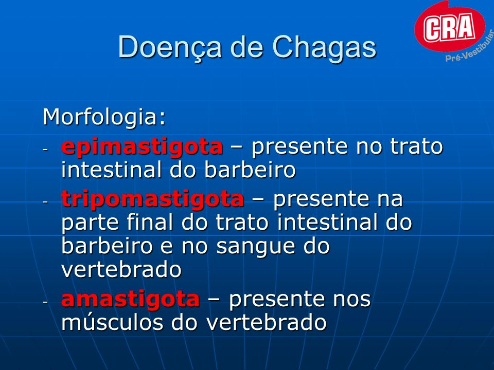 Doença de Chagas Morfologia: