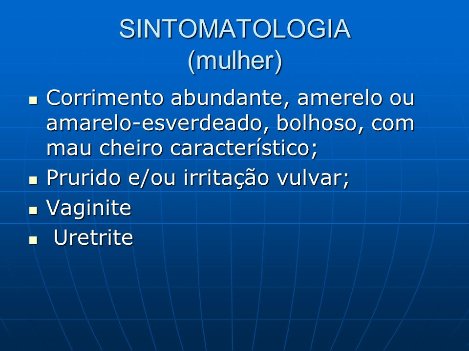SINTOMATOLOGIA (mulher)