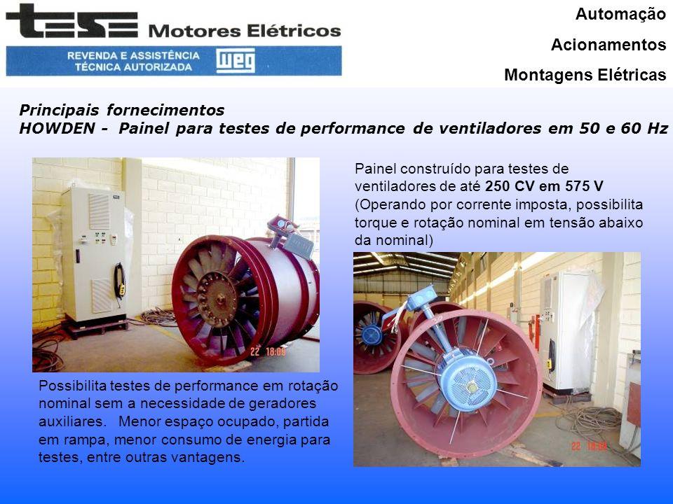 Automação Acionamentos Montagens Elétricas Principais fornecimentos