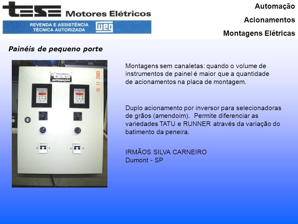 Automação Acionamentos Montagens Elétricas Painéis de pequeno porte