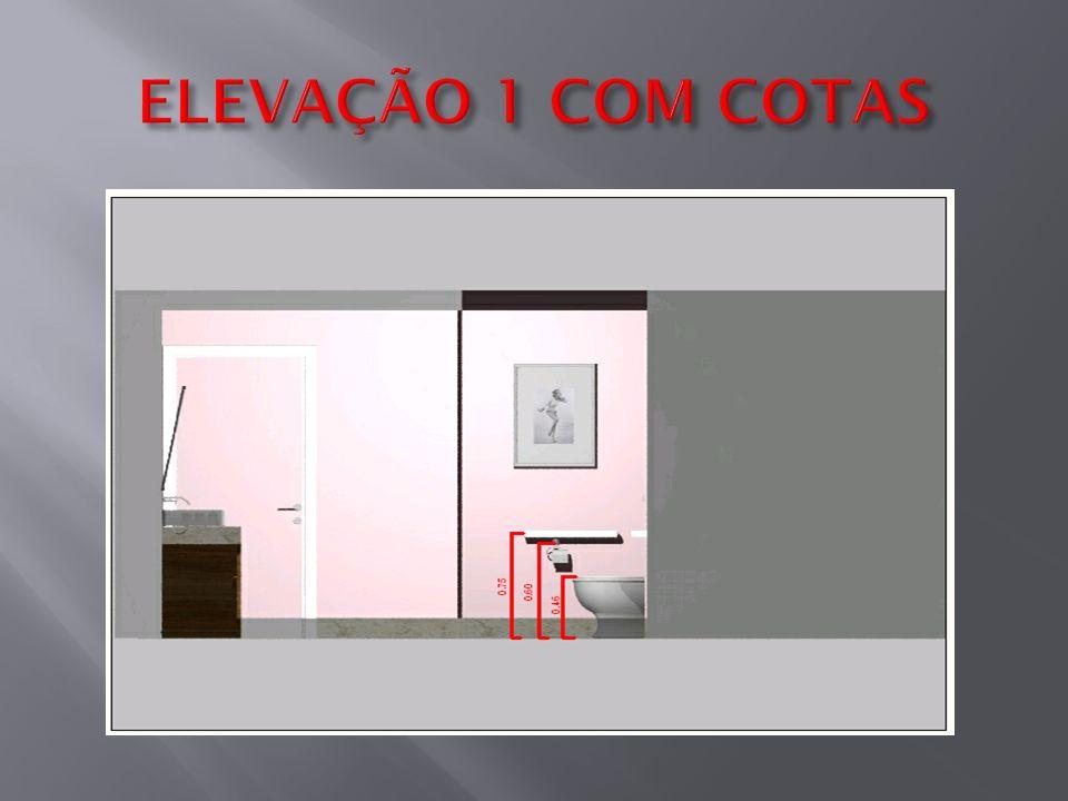 ELEVAÇÃO 1 COM COTAS