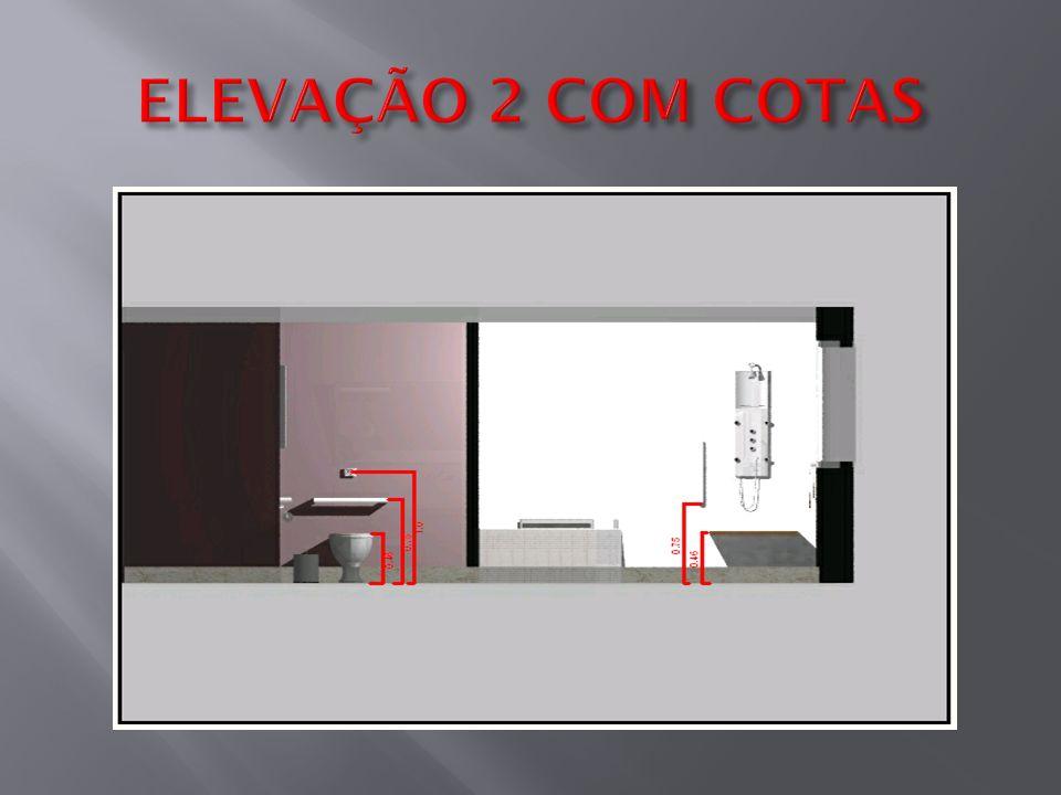 ELEVAÇÃO 2 COM COTAS