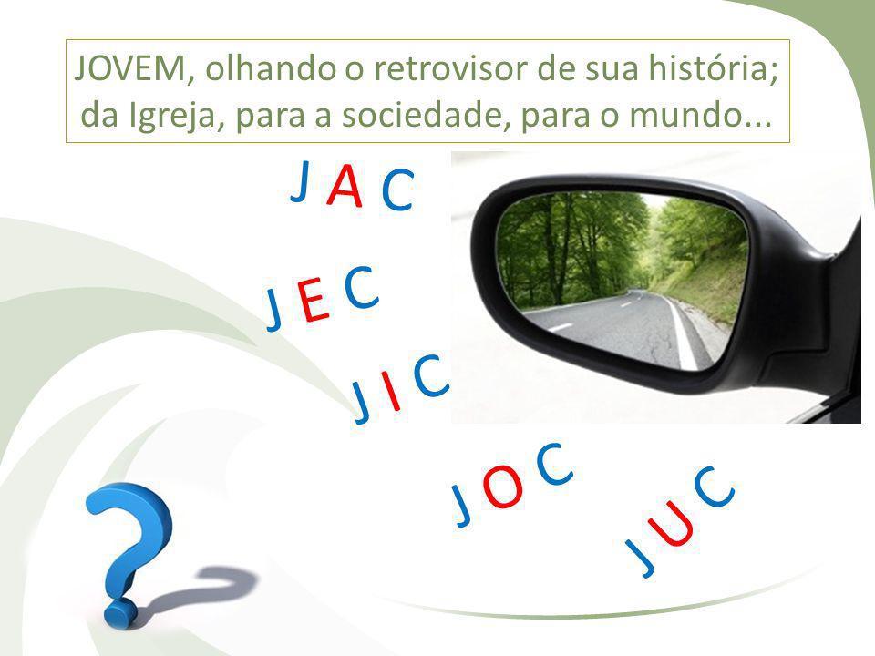 JOVEM, olhando o retrovisor de sua história; da Igreja, para a sociedade, para o mundo...