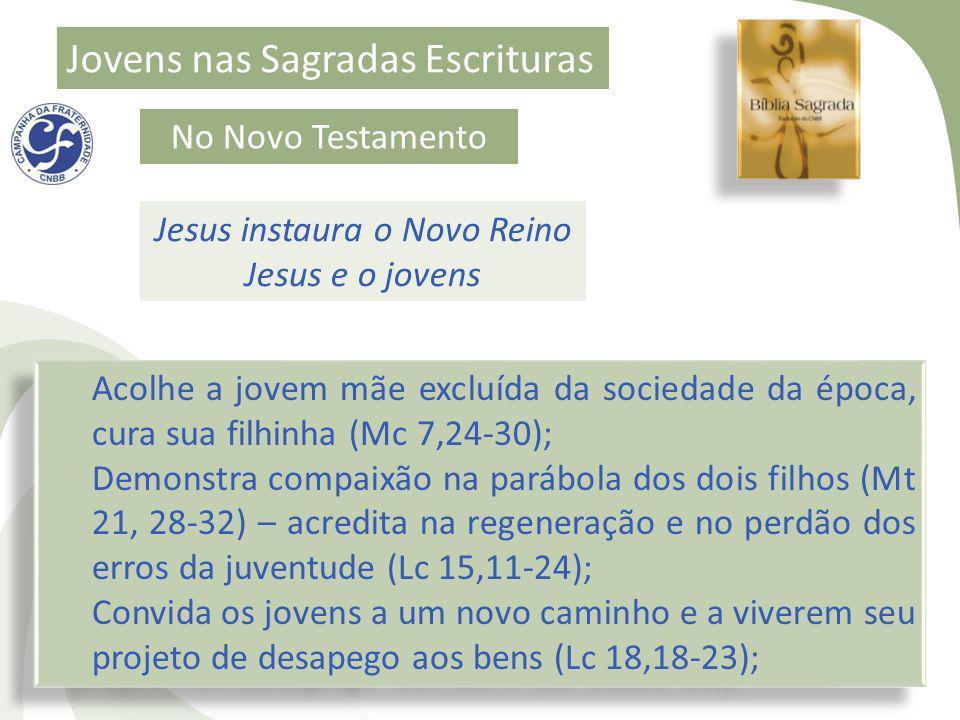 Jesus instaura o Novo Reino Jesus e o jovens