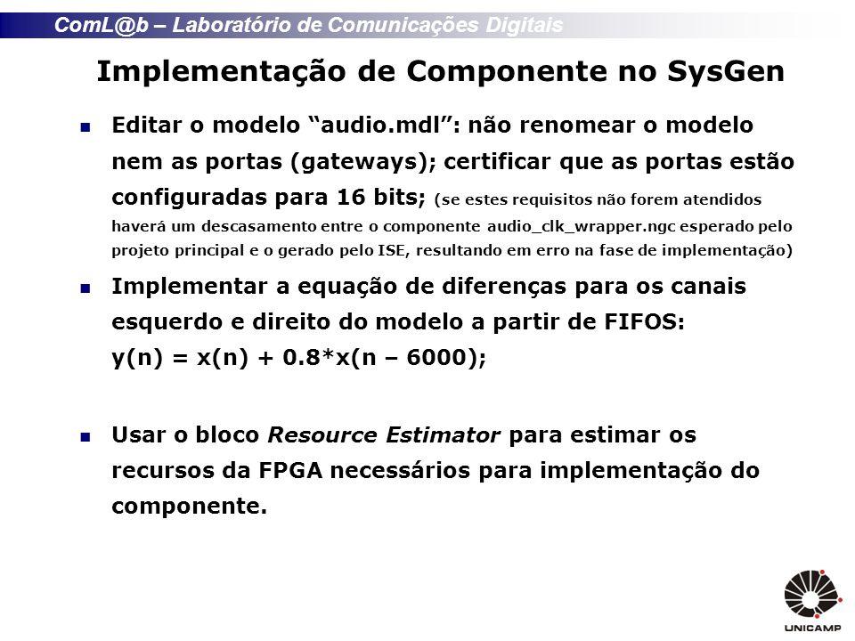 Implementação de Componente no SysGen