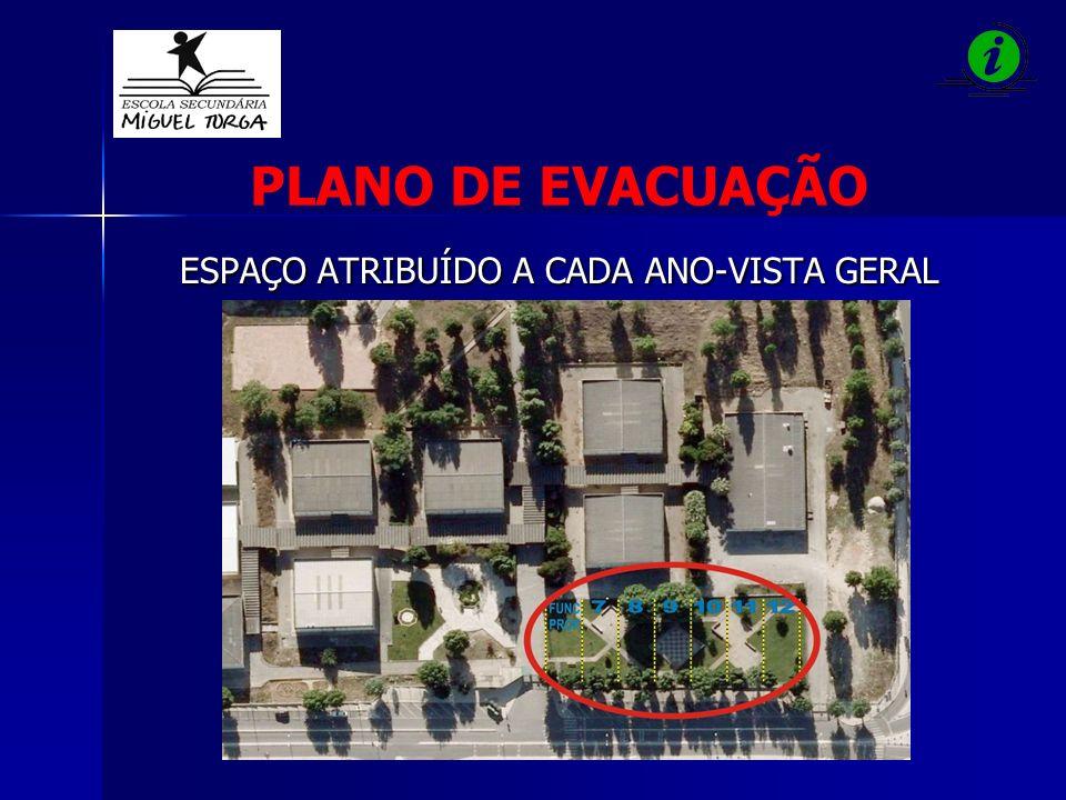 PLANO DE EVACUAÇÃO ESPAÇO ATRIBUÍDO A CADA ANO-VISTA GERAL
