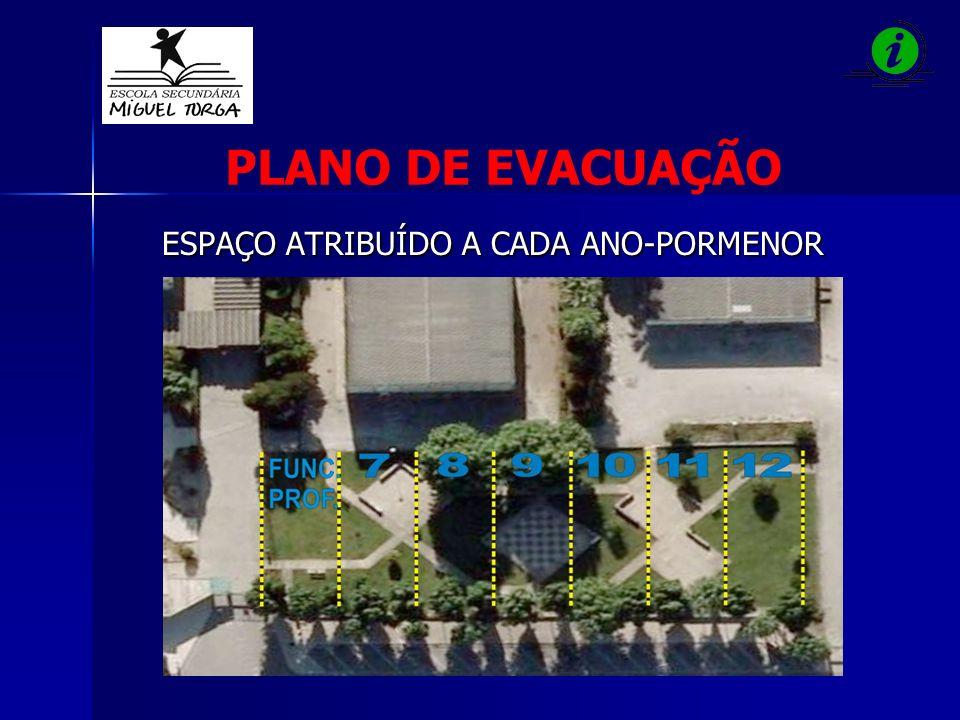 PLANO DE EVACUAÇÃO ESPAÇO ATRIBUÍDO A CADA ANO-PORMENOR