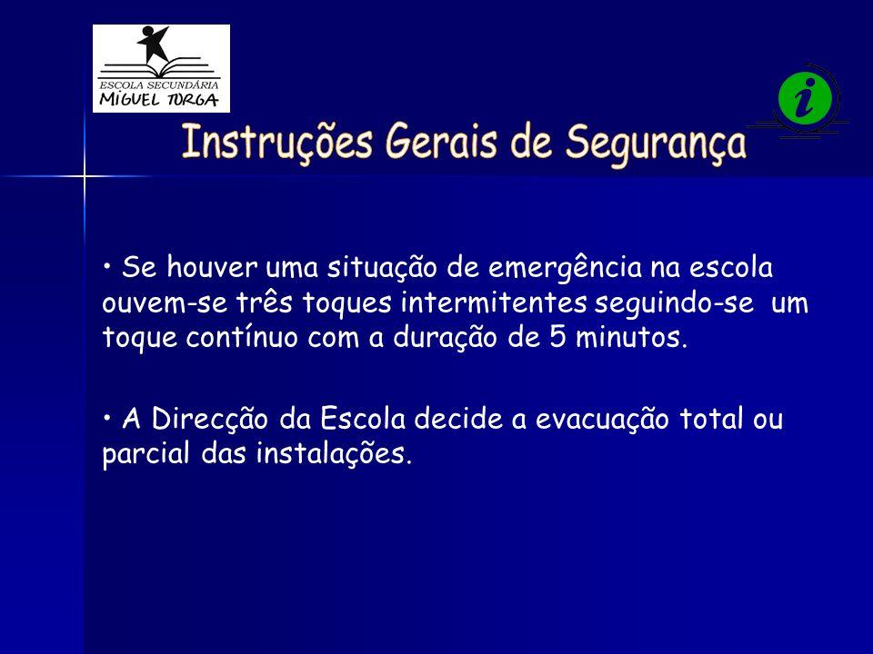 Instruções Gerais de Segurança
