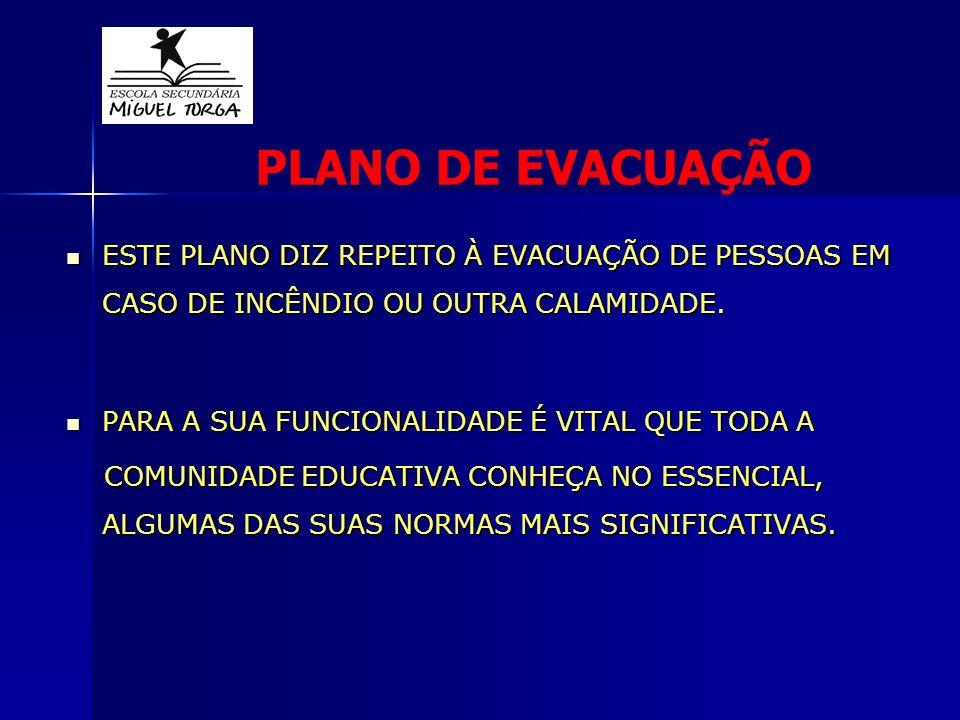 PLANO DE EVACUAÇÃO ESTE PLANO DIZ REPEITO À EVACUAÇÃO DE PESSOAS EM CASO DE INCÊNDIO OU OUTRA CALAMIDADE.