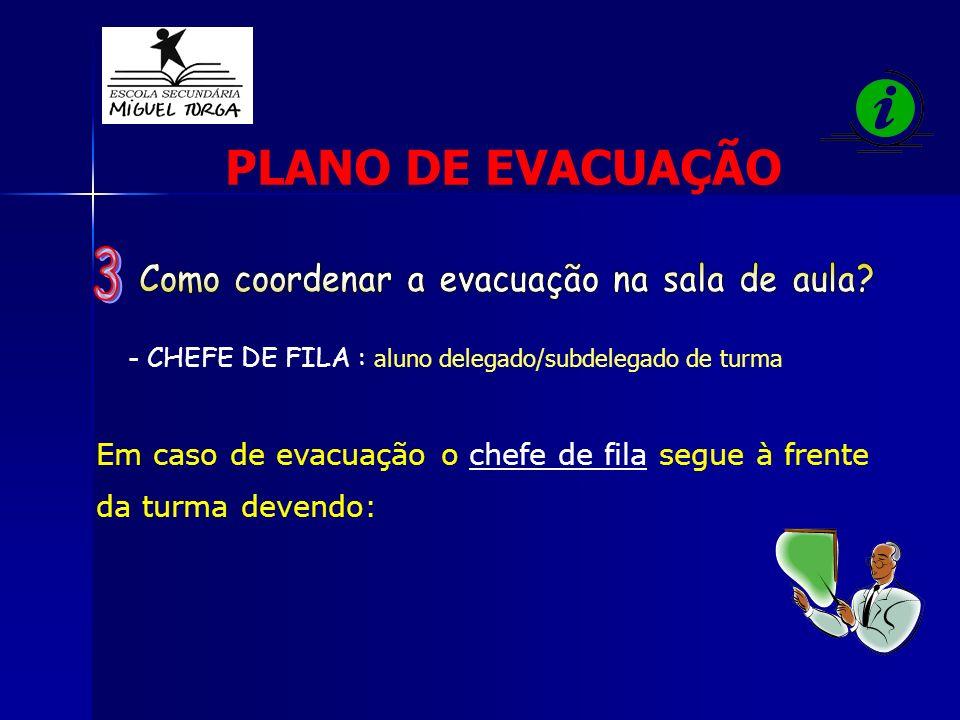 Como coordenar a evacuação na sala de aula