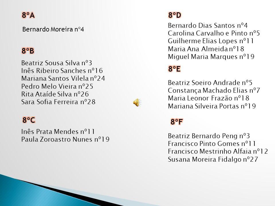 8ºA 8ºD 8ºB 8ºE 8ºC 8ºF Bernardo Dias Santos nº4 Bernardo Moreira nº4