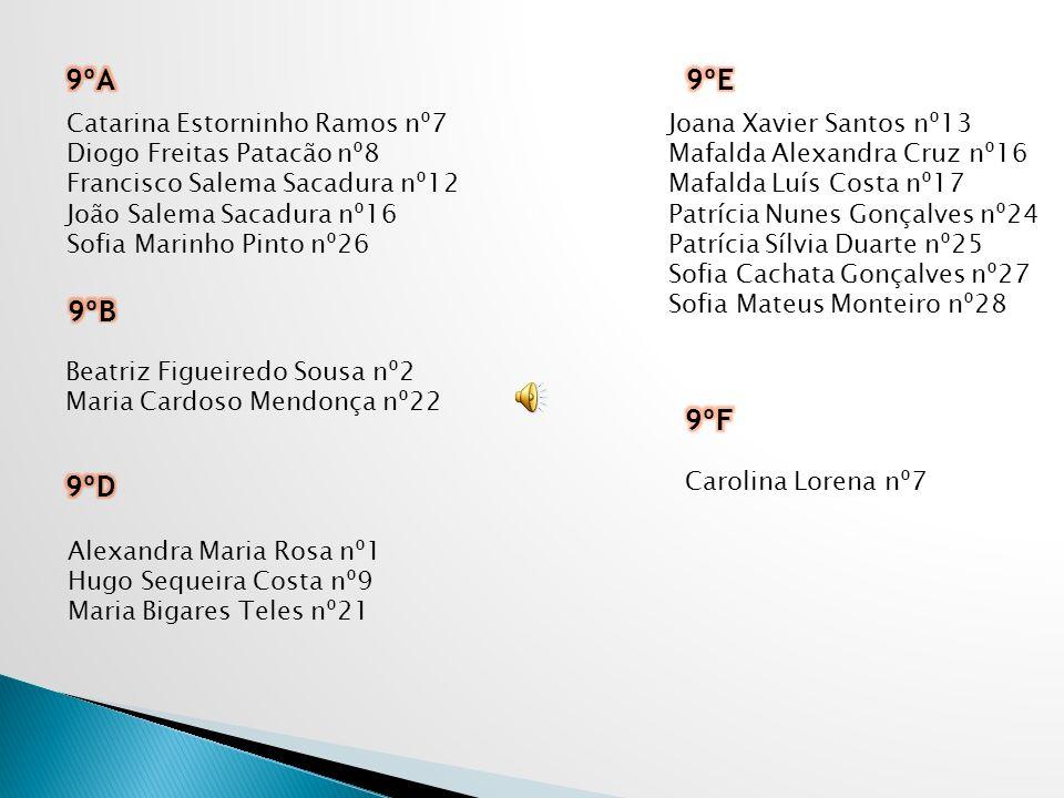 9ºA 9ºE 9ºB 9ºF 9ºD Catarina Estorninho Ramos nº7