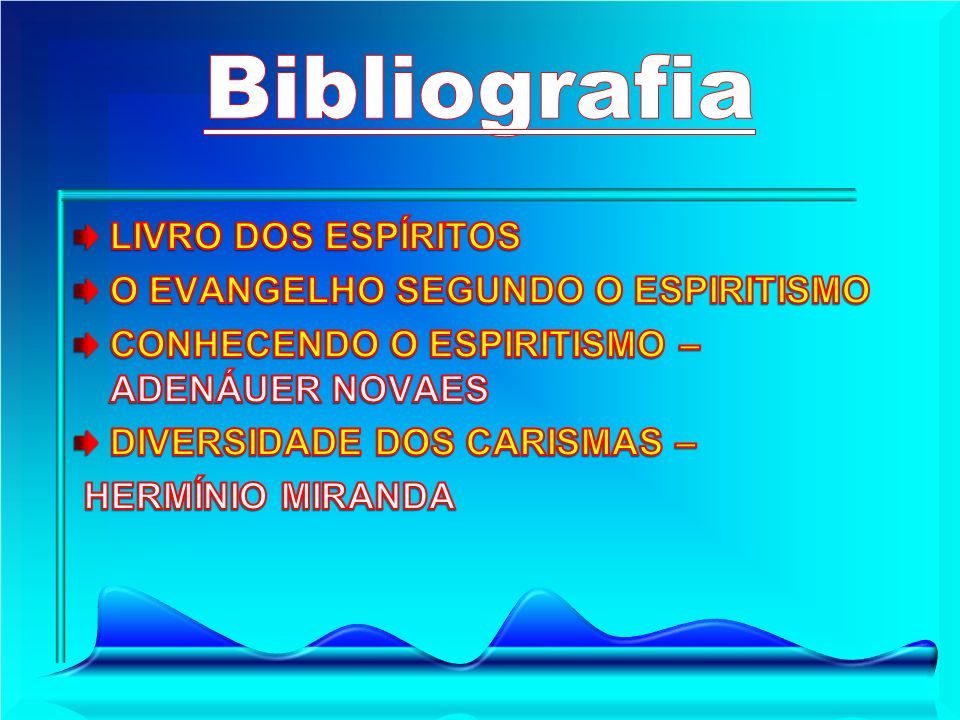 Bibliografia LIVRO DOS ESPÍRITOS O EVANGELHO SEGUNDO O ESPIRITISMO