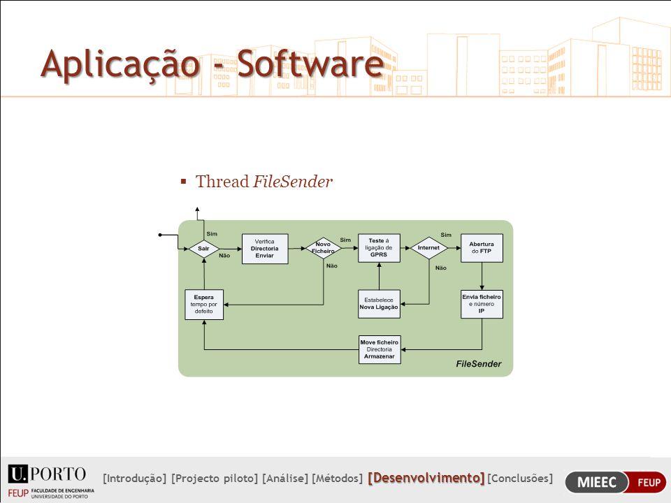 Aplicação - Software Thread FileSender
