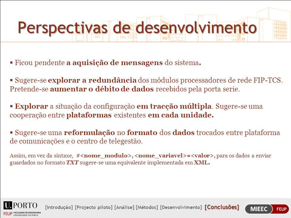 Perspectivas de desenvolvimento