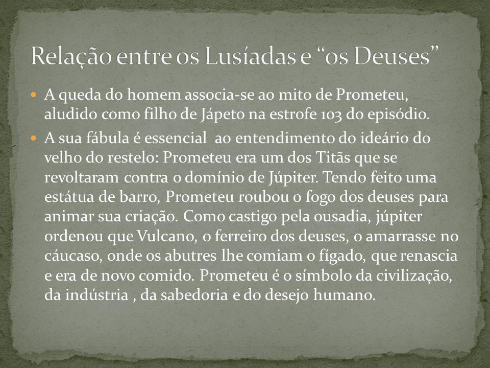 Relação entre os Lusíadas e os Deuses