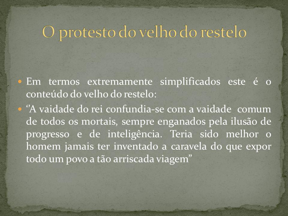 O protesto do velho do restelo