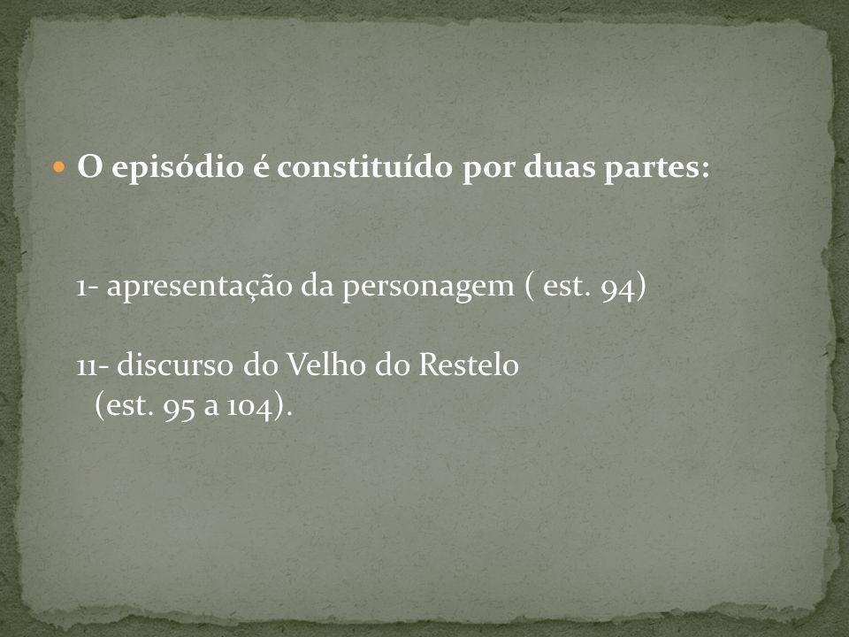 O episódio é constituído por duas partes: 1- apresentação da personagem ( est.