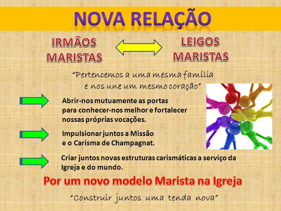 NOVA RELAÇÃO LEIGOS IRMÃOS MARISTAS MARISTAS