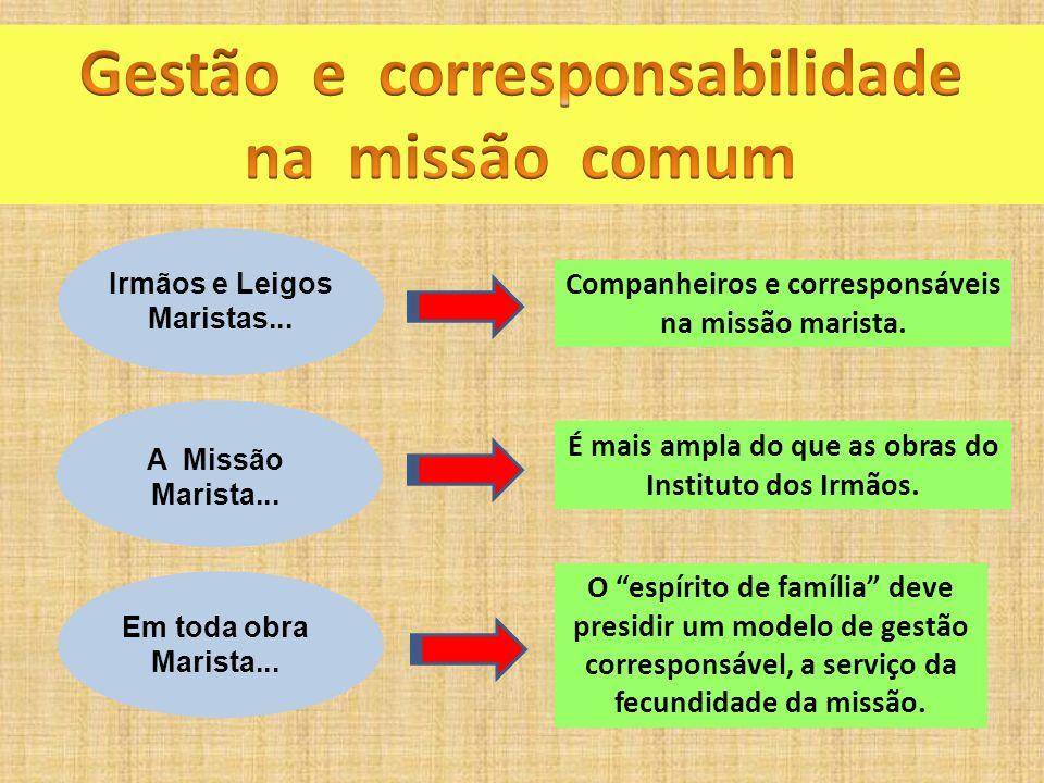 Gestão e corresponsabilidade na missão comum