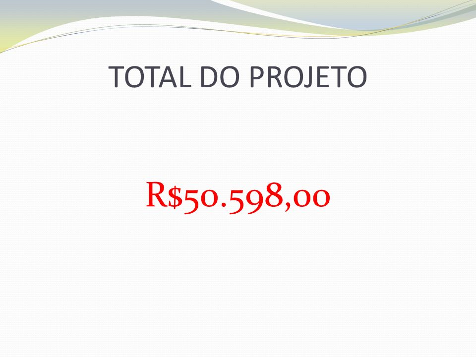 TOTAL DO PROJETO R$50.598,00